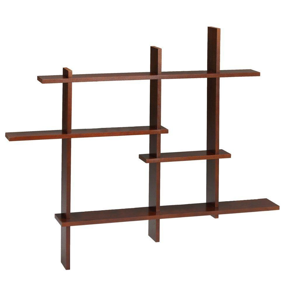 Standard Contemporary Display Shelf, STANDARD, MAHOGANY by Home Decorators Collection