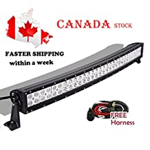 Light Bar, Serpeo 32 Inch 180W Curved LED Light Bar Flood Spot Combo Beam IP68 Waterproof with Wiring Harness for Off-road Truck Car ATV SUV Jeep Boat 4WD ATV