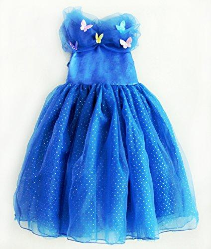 2015 New Cinderelladressgirls dress princess dress butterfly