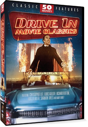 Drive-In Movie Classics 50 Movie Pack: Count Dracula and His Vampire Bride - Snowbeast - Slave of the Cannibal God - Prisoners of the Lost Universe - Invasion of the Bee Girls - Horror of the Zombies - Day of the Panther - Single Room Furnished + 42 more (Faces For Excited Christmas)