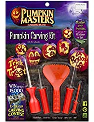 NEW 2018 Pumpkin Carving Kit - Includes Tools and 10 Different Patterns Design (Pack of 1 Kit)