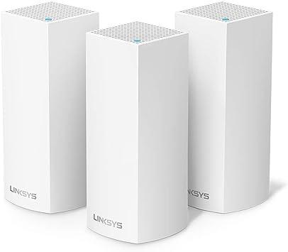 Linksys WHW0303 - Sistema Velop WiFi mesh tribanda para todo el hogar (router/extensor WiFi AC6600, sin interrupciones, controles parentales, hasta 525 m², paquete de 3 nodos, color blanco): Linksys: Amazon.es: Informática