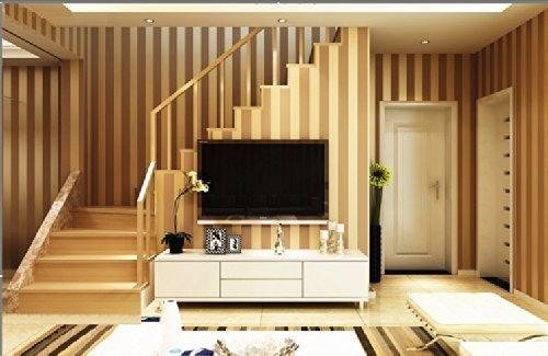 QIHANG European Modern Minimalist Country Luxury Stripe Wallpaper Roll for Living Room Bedroom Tv Backdrop Brown Color by QIHANG (Image #1)