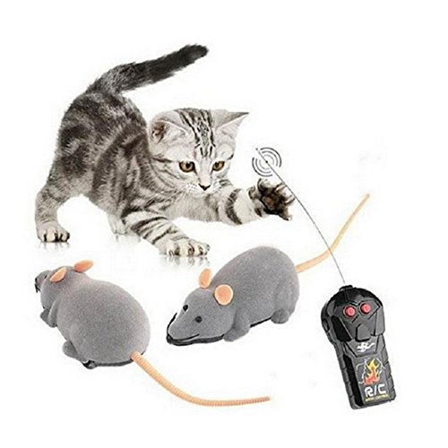 OFT Running Maus-Spielzeug Elektrische Maus Ratte mit Drahtlose Fernbedienung (Grau)