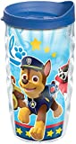 Tervis 1264405 Nickelodeon - Paw Patrol Team Tumbler with Wrap and Blue Lid 10oz Wavy, Clear