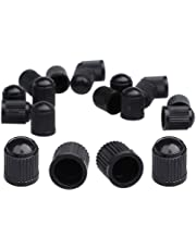 Wowot 20 Pack Tyre Valve Dust Caps, Plastic Car Tire Valve Stems Dust Caps for Car, Motorbike, Trucks, Bike, Bicycle (Black)