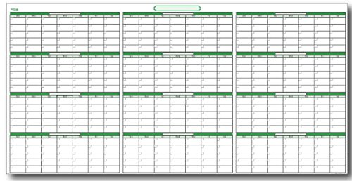Undated Yearly Dry/Wet Erasable Wall Calendar Kit: 38