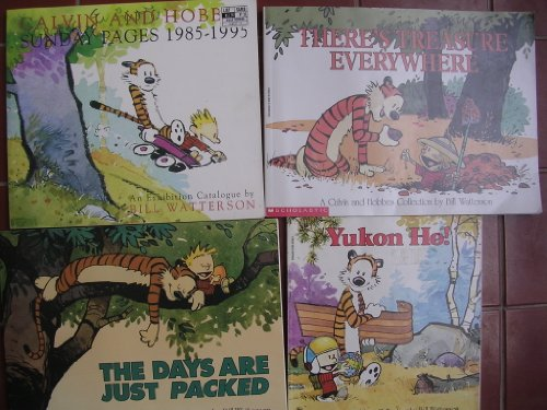 Download Calvin & Hobbes Box Set of 4 ; Yukon, Days Packed, Treasure Everywhere, Sunday Pages B0067SN5CY