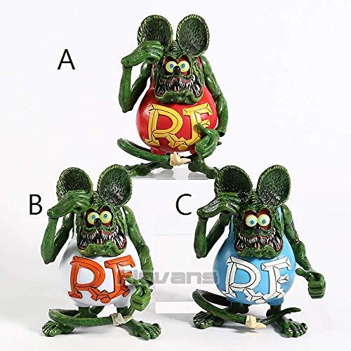 12cm (4.7 inch) - Rat Fink Mouse The Green Mouse PVC Action Figure -