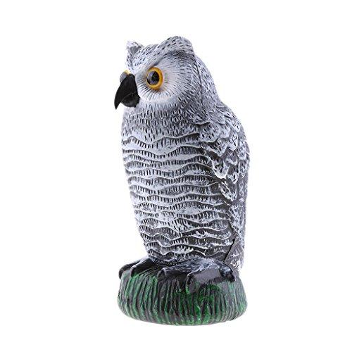 MonkeyJack Standing Owl Hunting Decoy Deterrent Repeller ...