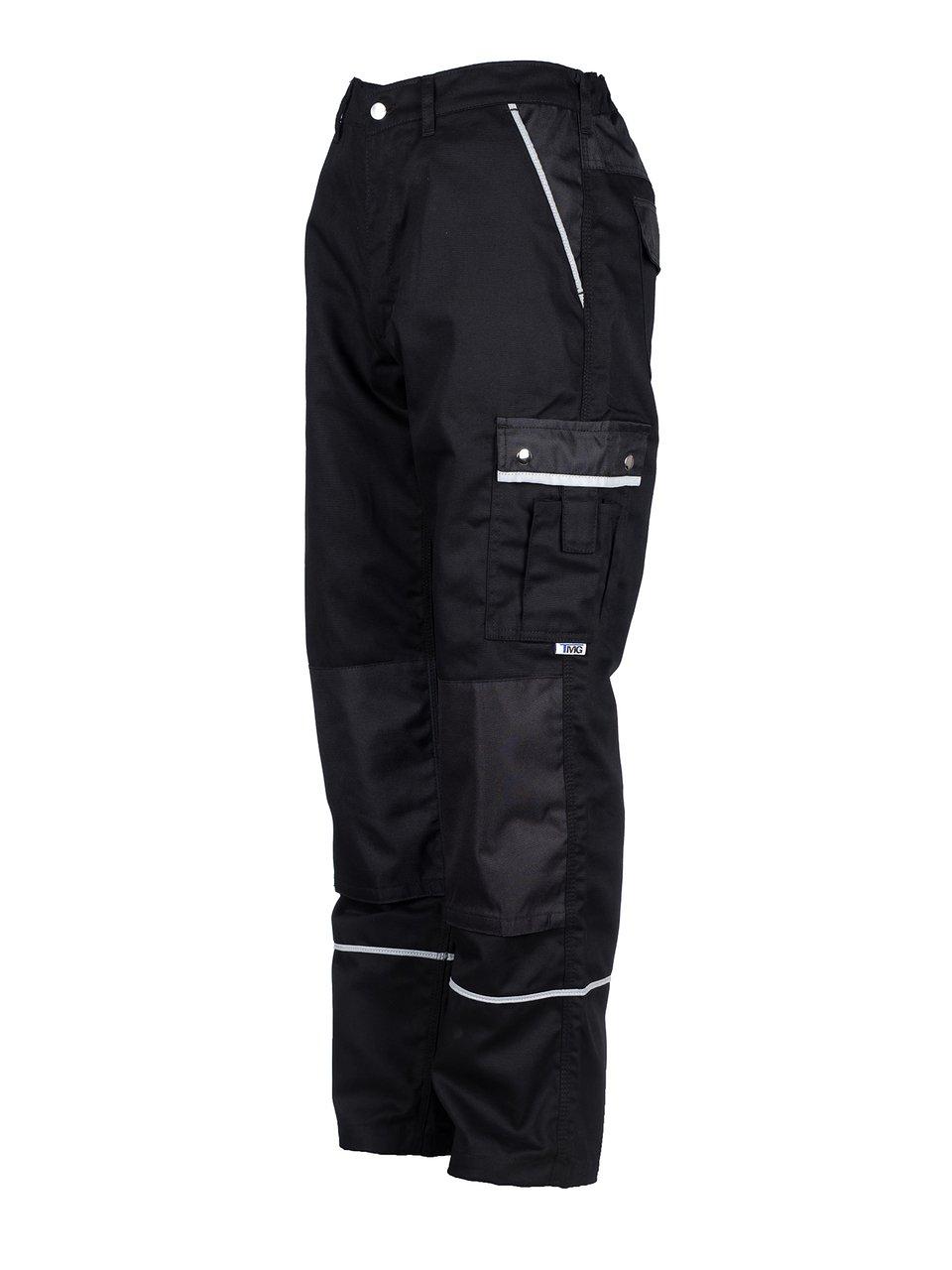 TMG® - Pantalon de travail cargo - poches pour genouillères - homme - noir