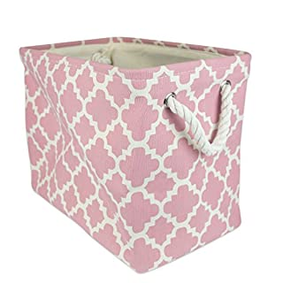 Laundry basket plastic pink do it yourselfore dii collapsible polyester storage basket or bin with durable cotton handles home organizer solution for solutioingenieria Image collections