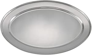 Winco Stainless Steel OPL-22 Oval Platter, 21.75 14.5-Inch