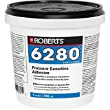 Roberts R6280-0 Adhesive for the Interior Installation Back Commercial Carpet Cushion, Fiberglass Reinforced Sheet Luxury Vinyl Tiles, 1 Quart