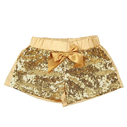 Baby Girl Clothes,Efaster Girl Fashion Sequin Short Pants Dancing Pants Trousers (18M, Gold)]()