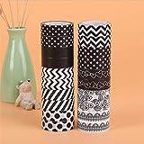 DHmart 1 Pcs 15 mm10m Tape Black White Set