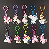 20 Pack Rainbow Unicorn Keychains Key Ring Decoration, Birthday Party Favor Supplies,Unicorn Charms