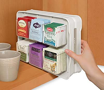 YouCopia TeaStand 100+ Tea Bag Organizer, Bright White