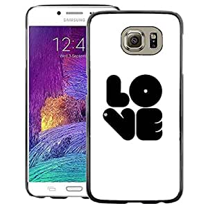Red-Dwarf Colour Printing Love Bubblegum White Black Text White - cáscara Funda Case Caso de plástico para Samsung Galaxy S6 SM-G920