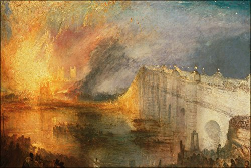 24x36 Poster; Joseph Mallord William Turner, English - The Burning Of The Houses Of Lords And Commons, October 16, 1834 (House Of Commons And House Of Lords)