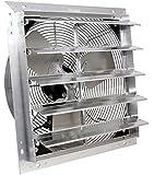 "VES 20"" Exhaust Shutter Fan, Wall Mount, 1/3 Hp, W/9' Cord and Switch"