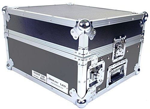 DEEJAY LED TBHM802E Fly Drive Case 8u Space Slant Mixer Rack / 2 u Space Vertical Rack System with Full AC Door