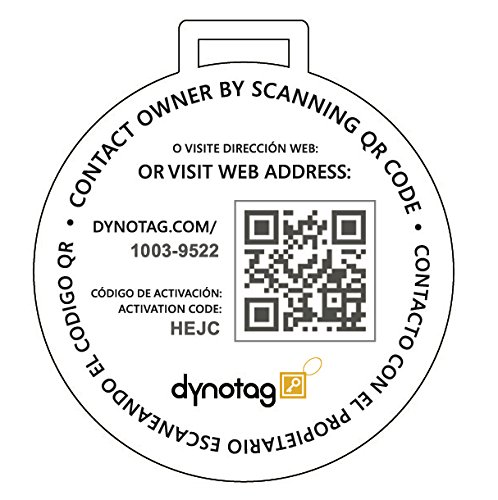 Dynotag Web Enabled Smart Deluxe Steel Luggage ID Tag & Braided Steel Loop, with DynoIQ & Lifetime Recovery Service (Brown) by Dynotag (Image #1)