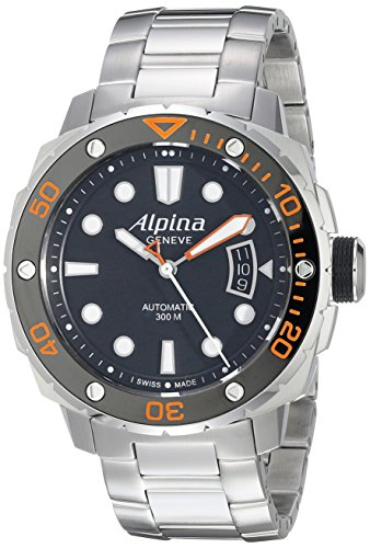Alpina Men's AL-525LBO4V26B Seastrong Diver 300 Analog Display Automatic Self Wind Silver ()