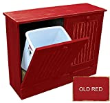 Twin Tilt Out Trash Cabinets (Old - Red)