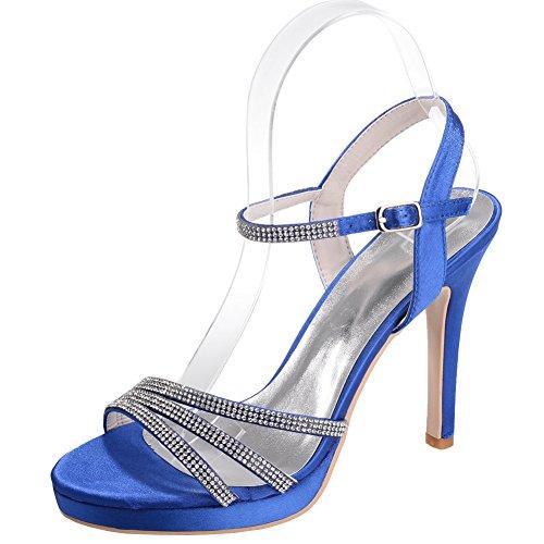 Loslandifen Donna Pompe Elegante Open Toe Cinturino Alla Caviglia Pompe Donna Di 513944