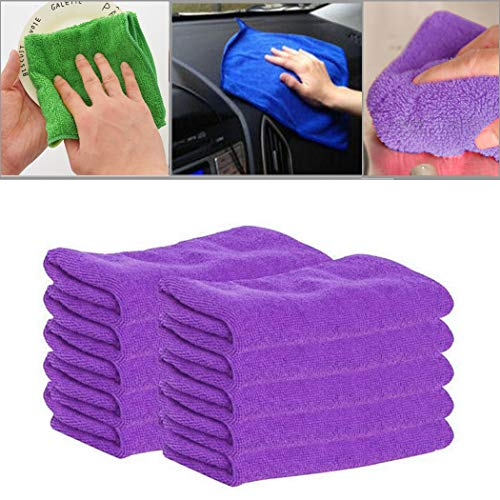 Professional Magic Microfiber Cloth Cleaning Towels (Pack of 5 Pieces) for Fine Auto Finishes, Interior, Kitchen, Bath