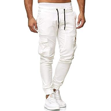 Alaso - Pantalón de chándal para Hombre Blanco M: Amazon.es: Ropa ...