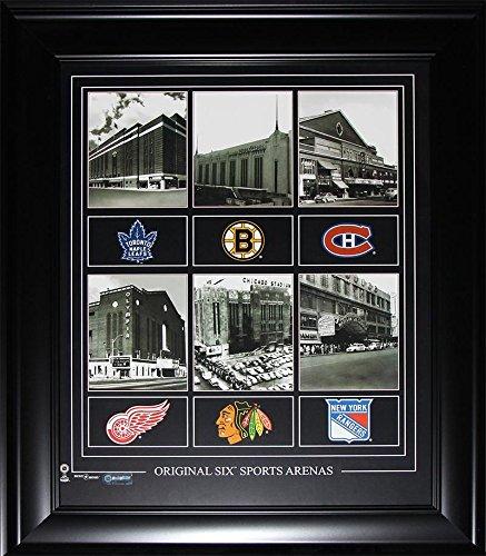 original six arenas 16x20 compilation frame midway memorabilia for