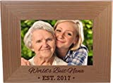 CustomGiftsNow World's Best Nana EST. 2017 4-inch x 6-Inch Wood Picture Frame