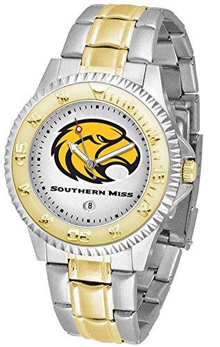 Golden Eagles Sport Steel Watch - Southern Miss USM Men's Two Tone Dress Watch