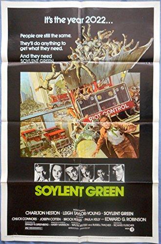 SOYLENT GREEN MOVIE POSTER Charlton Heston Edward G. Robinson Sci-Fi 1sht (Soylent Green Poster)