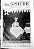 Old Original Antique Victorian Print Queen At University College Miss Betty Nuthall Tennis 1927 001G610