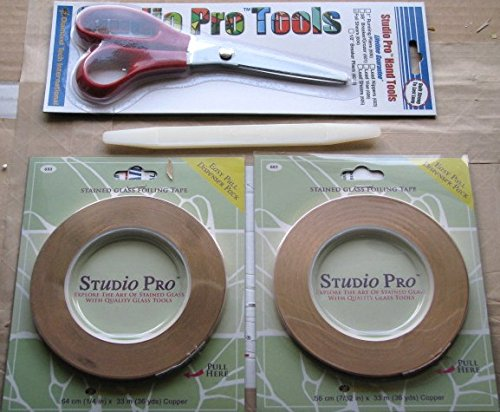 Kit Foil Copper - Studio Pro Stained Glass Complete Copper Foil Tool Kit