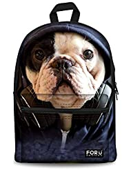 HUGS IDEA 3D Animals Face Boys Backpack Kids School Book Bag Travel Bagpack