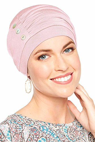 Bamboo Synergy Cap-Caps for Women with Chemo Cancer Hair Loss Luxury Bamboo - Cameo Pink