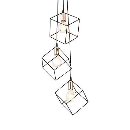 Amazon.com: Lámpara de techo con diseño de jaula de metal ...