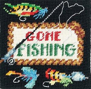 Gone Fishing Wool Needlepoint Kit
