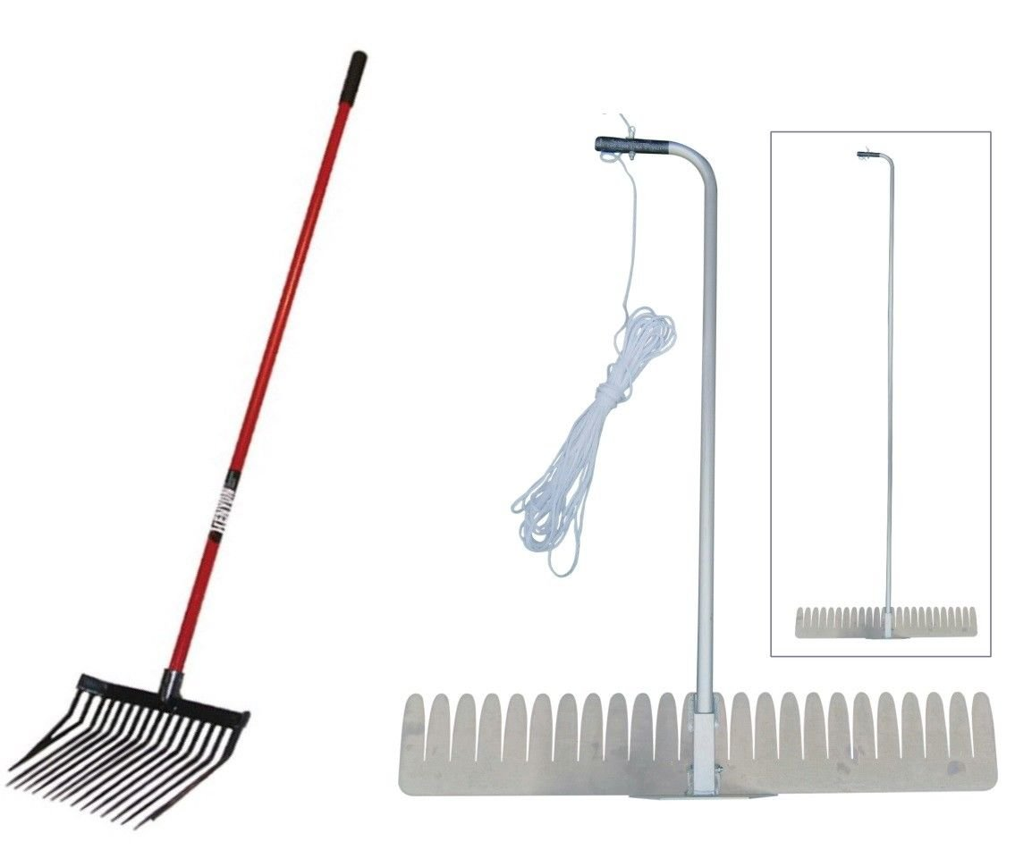 Sea-Weed Aquatic Weed Puller Cutter + Pitch Fork Lake & Pond Cleanup Kit