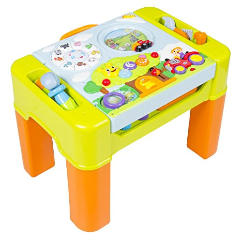 Kids Learning Activity Table With Quiz Music Lights Shapes Tools and More by Ebest