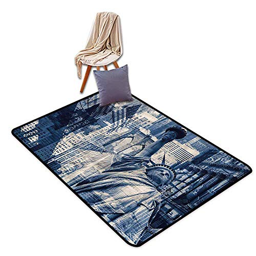 - Large Area mat,United States NY Liberty Statue,Children Crawling Bedroom Rug,4'7