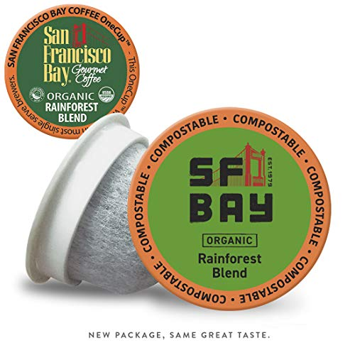 San Francisco Bay OneCup, Organic Rainforest Blend, Single Serve Coffee K-Cup Pods (80 Count) Keurig Compatible
