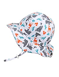 Baby Toddler Kids Sun Hat, Size Adjustable, 50 UPF Cotton Cotton
