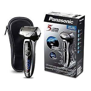 Panasonic ES-LV65-S803 Afeitadora Premium Eléctrica para Hombre/Máquina de Afeitar de Láminas para Barba Recargable e Inalámbrica Fabricada en Japón (Motor Lineal, Wet&Dry, 5 Cuchillas)