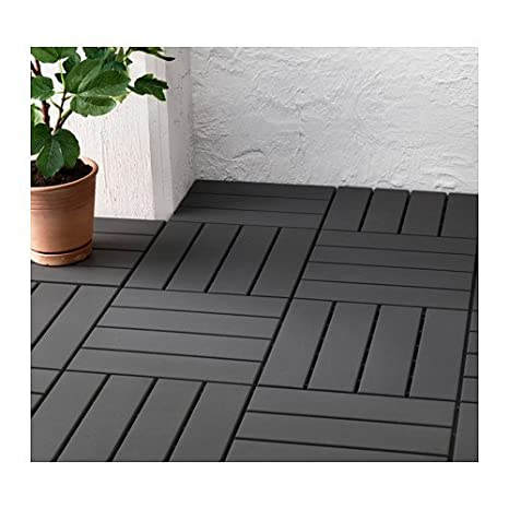 Perfect Ikea Outdoor Deck And Patio Interlocking Flooring Tiles (Brown Stained)      Amazon.com