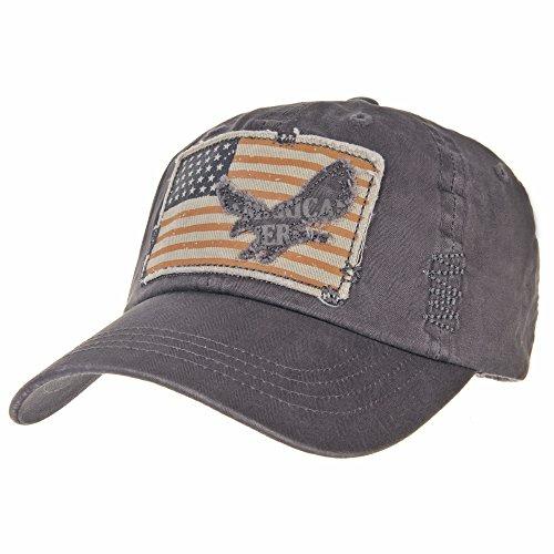 503e589499 WITHMOONS Gorras de béisbol gorra de Trucker sombrero de Baseball Cap  Vintage American Flag Patch Distressed
